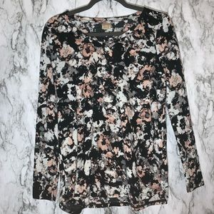 BLACK PINK GREY AND WHITE WOMENS TOP